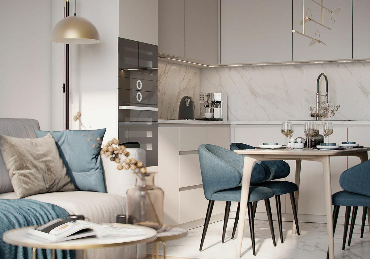 Törtfehér konyhabútor letisztult design