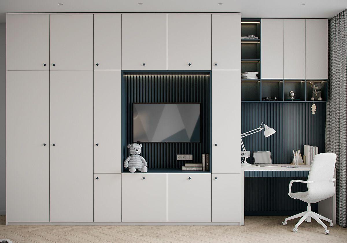 Egyedi tervezésű szekrény és tanulósarok