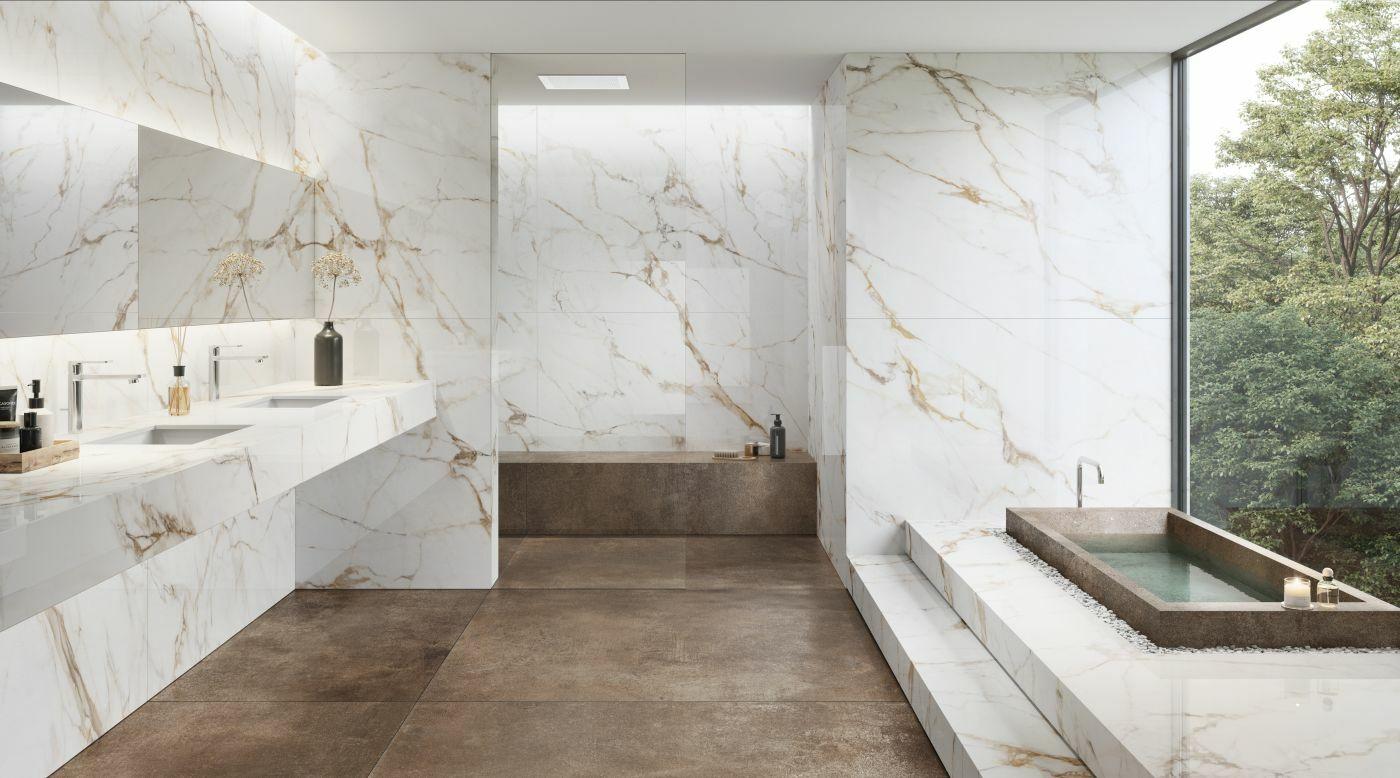XTONE Calacatta Gold fürdőszobába