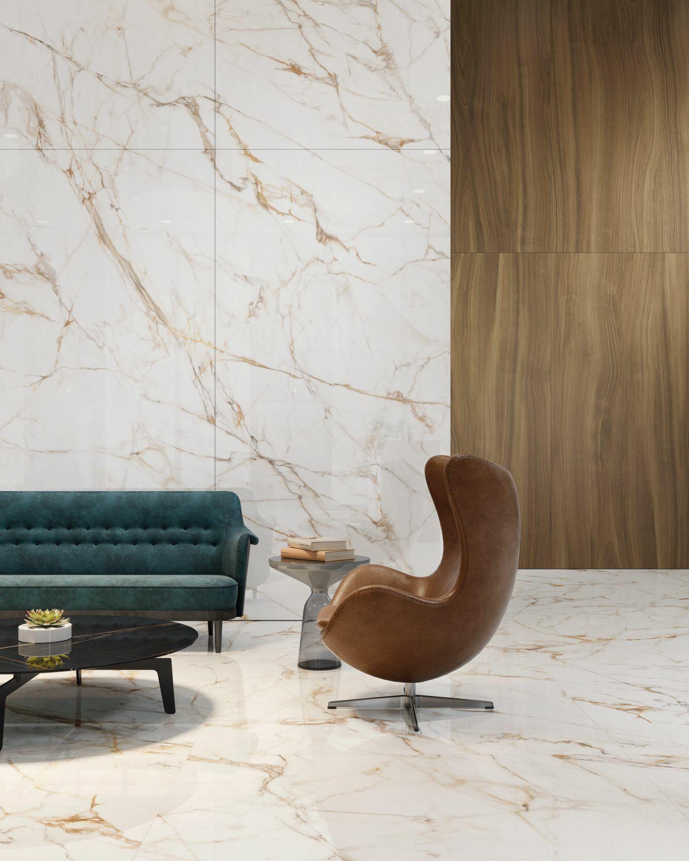 XTONE Calacatta Gold nagyméretű márványmintás lap