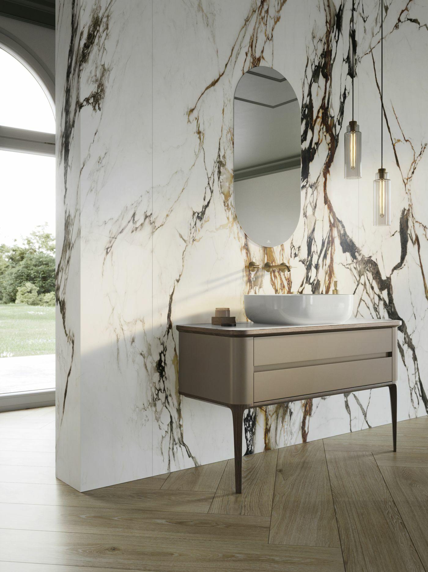 XTONE Paonazzo Biondo fényes márvány mintás lap