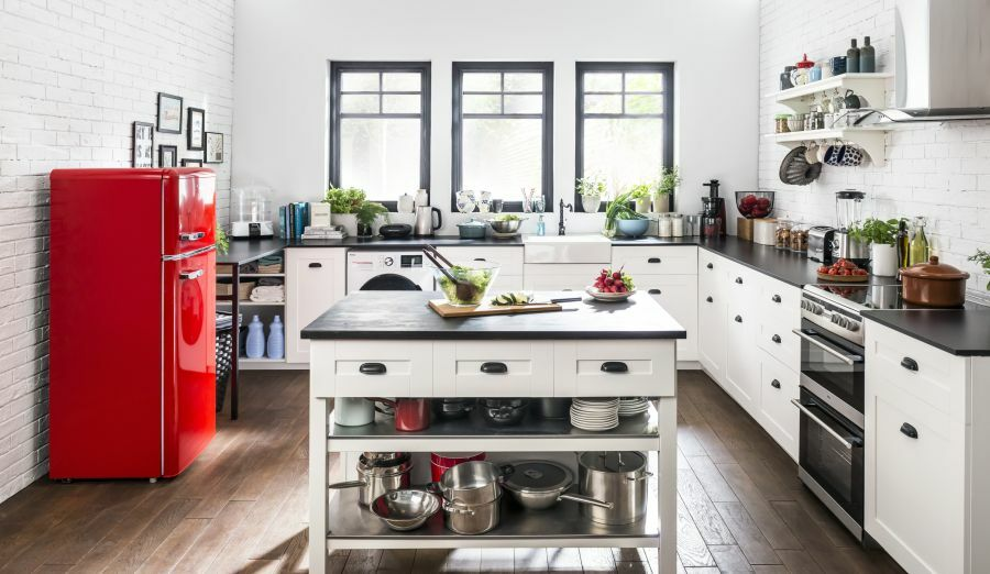 Piros Amica hűtőszekrény