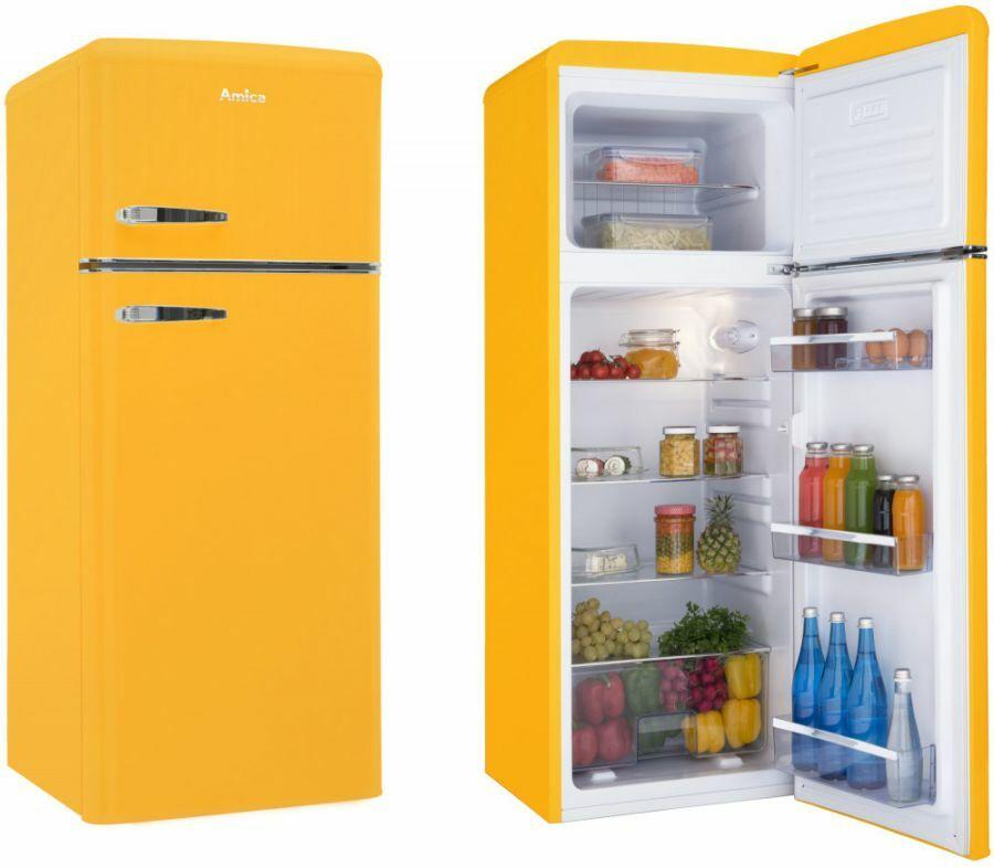Okkersárga Amica hűtőszekrény