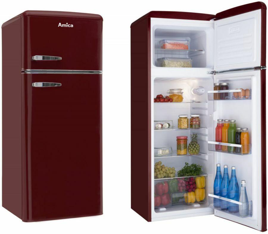 Bordó Amica hűtőszekrény