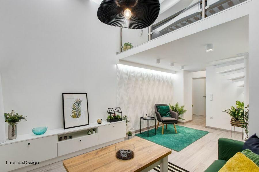 3D falpanel fehér színben lakásdekoráció