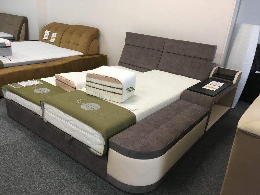 Dayton ágy éjjeliszekrényként is funkcionáló rekeszekkel