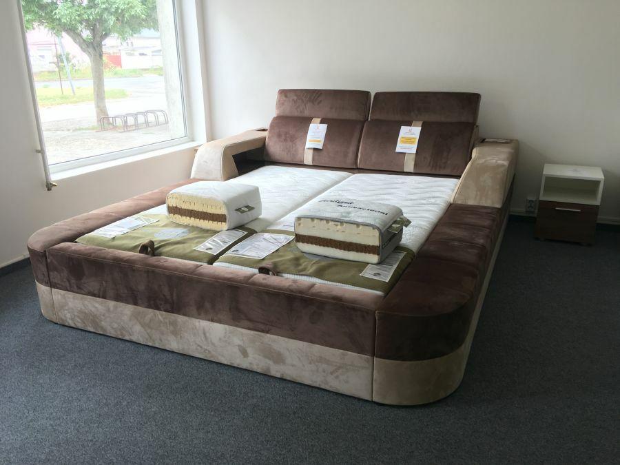 Korfu ágy állítható háttámlával és belső tárolórekeszekkel