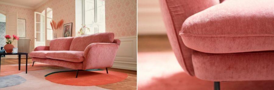 Rózsaszínű Sits kanapé