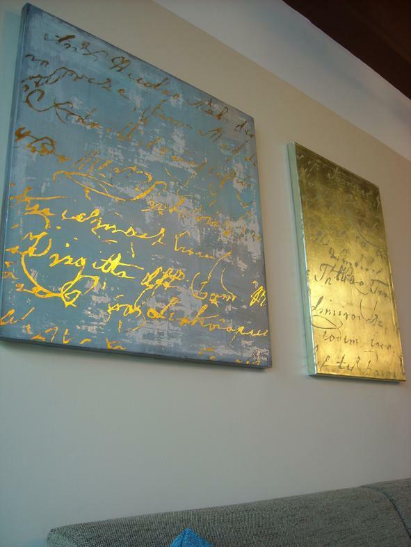 Svia festmény Rio Designban arany színekkel