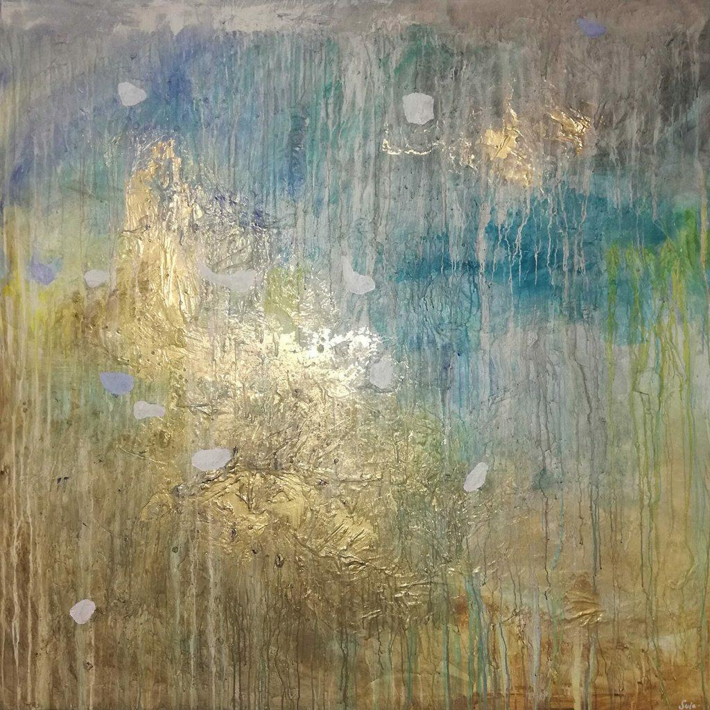 Svia Galéria festmény Rio Designban arany színű festmény