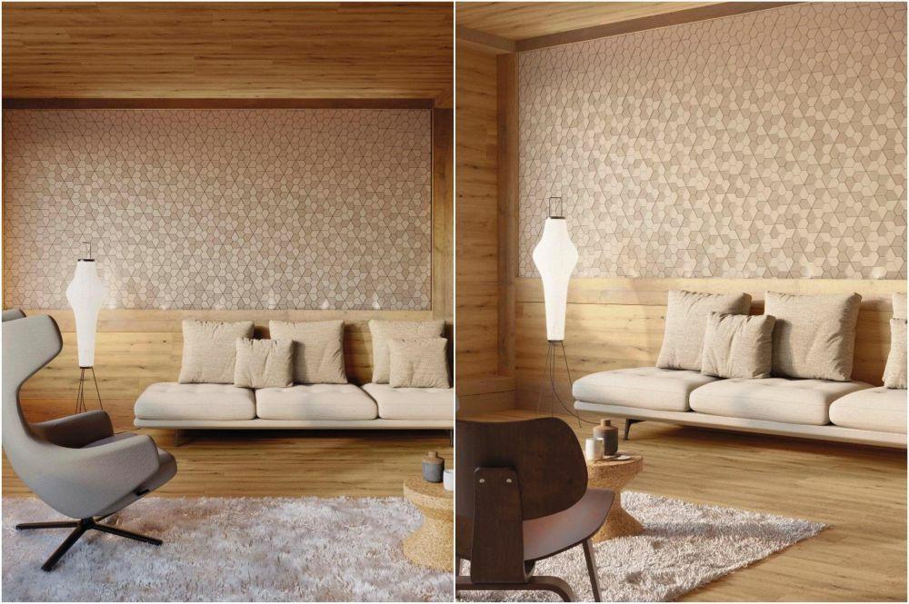 Geometrikus minták a nappali falára
