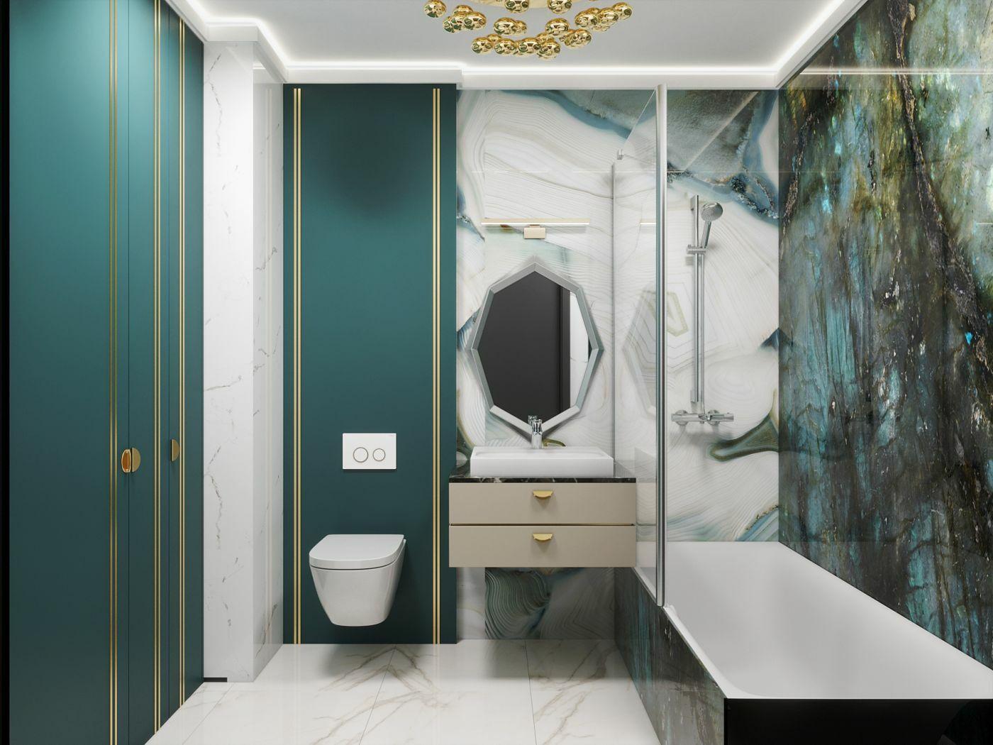 A második lakosztály fürdőszobája