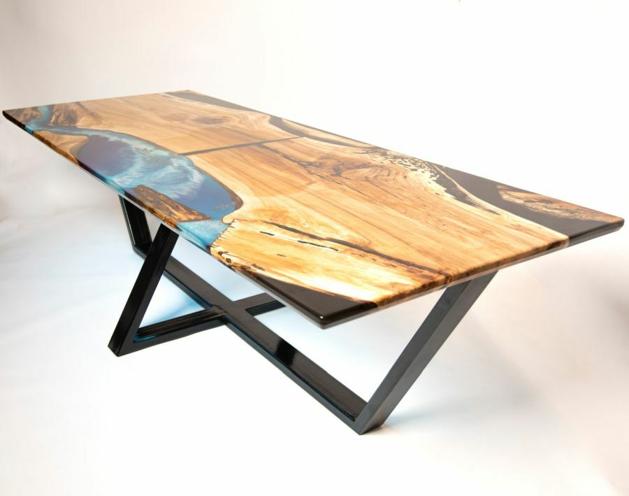 Epoxy berakásos asztal