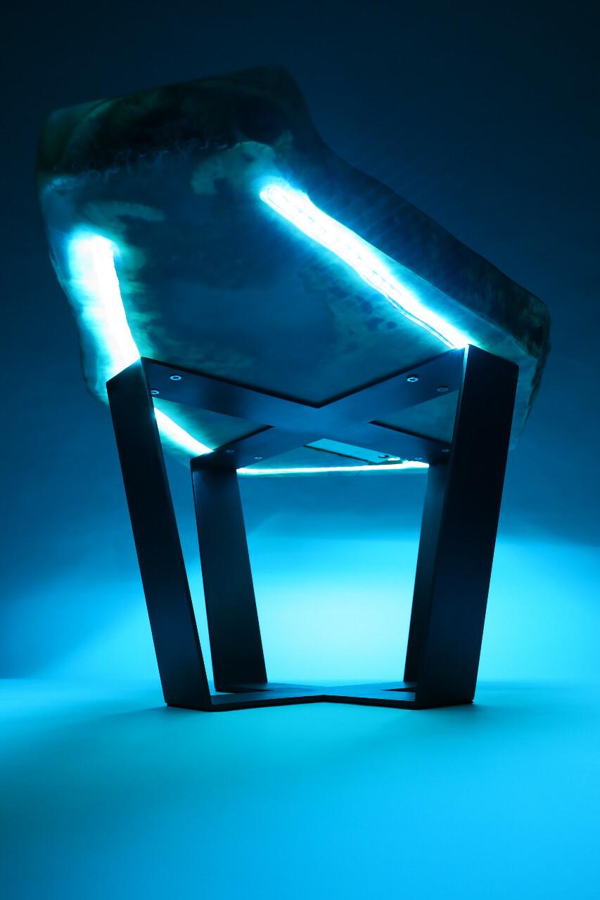 Led világítás epoxi asztal
