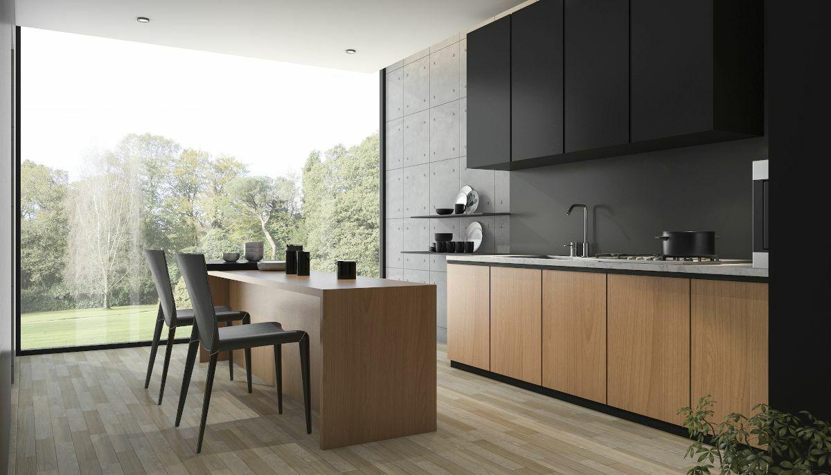 Modern konyhabútor, bútorszerelés